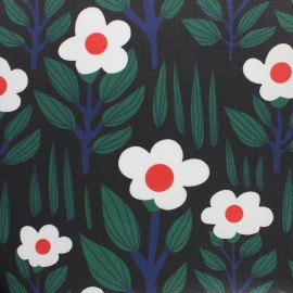 Cloud 9 Matte Coated cotton fabric - Black Branch forest x 10 cm