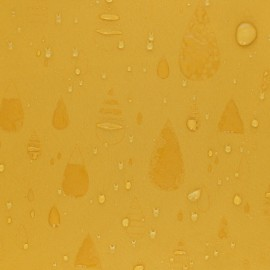 Water-sensitive softshell fabric - mustard yellow Rainy day x 10cm