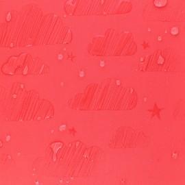 Tissu Softshell hydrosensible Nuage - rouge x 10cm