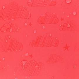 Water-sensitive softshell fabric - red Cloud x 10cm