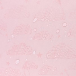 Water-sensitive softshell fabric - nude pink Cloud x 10cm
