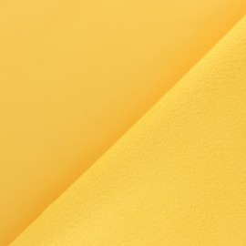Water-repellent Softshell fabric – lemon yellow x 10cm