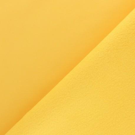 Tissu Softshell uni - jaune citron x 10cm