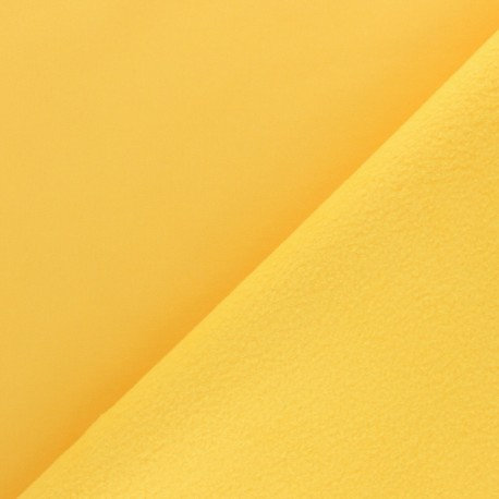 Water-repellent Softshell fabric – mustard yellow x 10cm