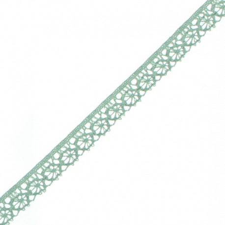 15 mm Lace Ribbon - Sage Green Amélie x 1m