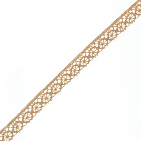 15 mm Lace Ribbon - Latte Amélie x 1m