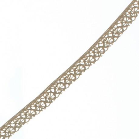 15 mm Lace Ribbon - Sand Amélie x 1m