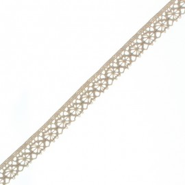 15 mm Lace Ribbon - Light Sand Amélie x 1m