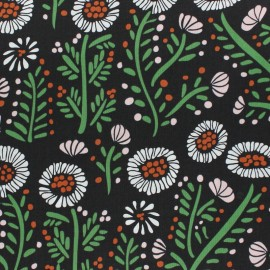 Cloud 9 cotton fabric - Black Dancing Petals x 10 cm