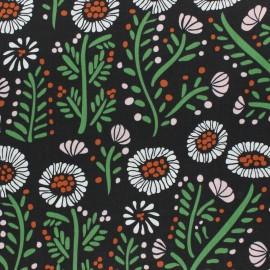 Tissu coton enduit Cloud 9 - Branch forest - noir x 10 cm