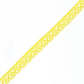 Ruban Dentelle Amélie 15 mm - Jaune Citron x 1m