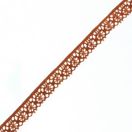 15 mm Lace Ribbon - Rust Amélie x 1m