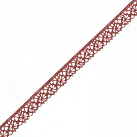 15 mm Lace Ribbon - Brick Red Amélie x 1m