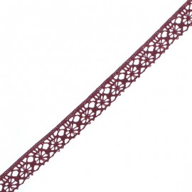 15 mm Lace Ribbon - Wine Amélie x 1m