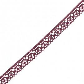 Ruban Dentelle Amélie 15 mm - Lie de Vin x 1m
