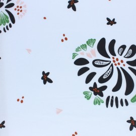 Cloud 9 cotton fabric - Black Bouquet Toss x 10 cm