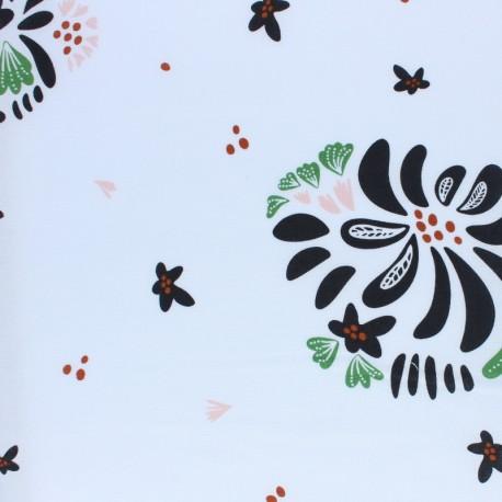 Cloud 9 cotton fabric - Black Bouquet Toss x 10 cm