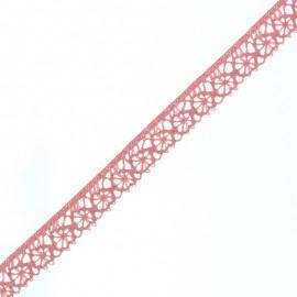 Ruban Dentelle Amélie 15 mm - Rose Corail x 1m
