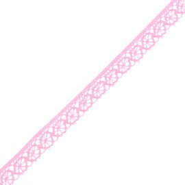 15 mm Lace Ribbon - Candy Pink Amélie x 1m