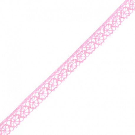 Ruban Dentelle Amélie 15 mm - Rose Bonbon x 1m