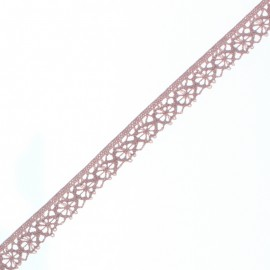 Ruban Dentelle Amélie 15 mm - Vieux Rose x 1m