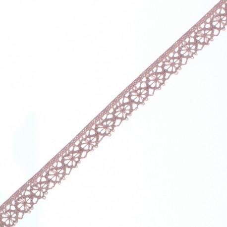 15 mm Lace Ribbon - Ancient Pink Amélie x 1m