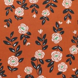 Tissu coton Cloud 9 - Rose Trellis - brique x 10 cm