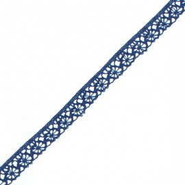 15 mm Lace Ribbon - Navy Blue Amelie x 1m