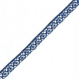 Ruban Dentelle Amélie 15 mm - Bleu Navy x 1m