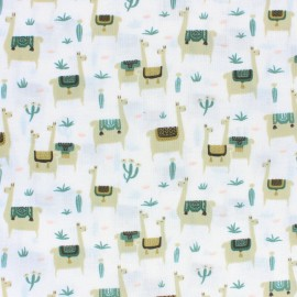Cloud 9 cotton fabric - Raw Llama life x 10 cm