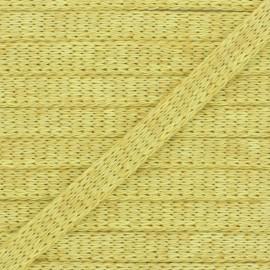 Cordon Plat Tricoté Bio - Moutarde x 1m