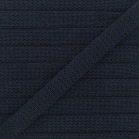 Organic Knitted Flat Cord - Black x 1m