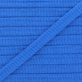 Cordon Plat Tricoté Bio - Bleu x 1m