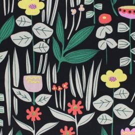 Cloud 9 cotton fabric - Black Haru x 10 cm