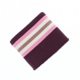 Organic Edging Fabric (140x8cm) - Burgundy Glam