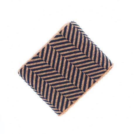 Organic Edging Fabric (140x8cm) - Black/Cooper Icon Glow