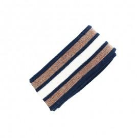 Organic Edging Fabric (200x4cm) - Blue/Cooper Glam