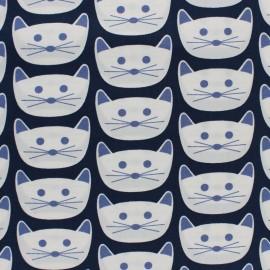 AGF Cotton fabric - Navy Cat Nap District x 10cm
