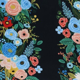 Tissu rayonne Cotton Steel Rifle Paper - Garden Party - marine x 10cm