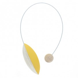 Magnetic Curtain Tieback - Yellow Pilat
