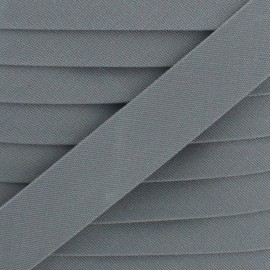 25 mm Outdoor Bias Binding - Grey Magellan x 1m