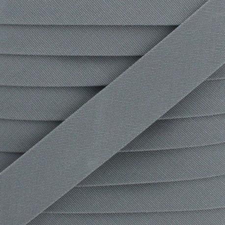 25 mm Outdoor Bias Binding - Grey Magellan x 1m