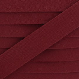 25 mm Outdoor Bias Binding - Burgundy Magellan x 1m