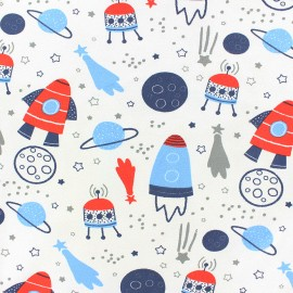 Stenzo Jersey cotton fabric - Blue Dreaming Animals x 10cm