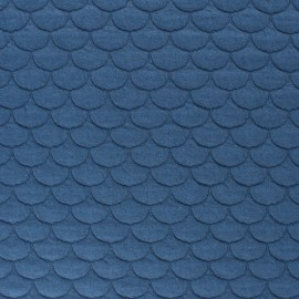 Scale Quilted jersey fabric- sky blue Aquarius x 10cm