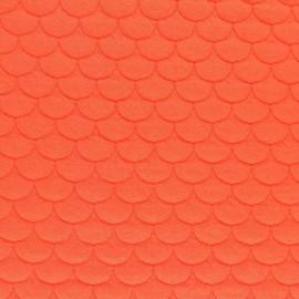 Tissu jersey matelassé écailles Aquarius - orange x10cm