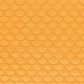 Scale Quilted jersey fabric - mustard yellow Aquarius x 10cm