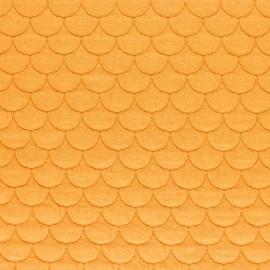 Tissu jersey matelassé écailles Aquarius - jaune moutarde x10cm