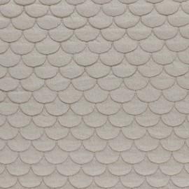 Tissu jersey matelassé écailles Aquarius - sable x10cm