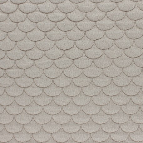 Scale Quilted jersey fabric - sand Aquarius x 10cm